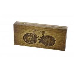 Jesionowe pudełko na RETRO Rower brzytwę, bez zawartości