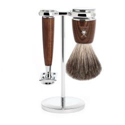 Mühle Zestaw do golenia Rytmo S81H220SR Pędzel do golenia Pure Badger, Maszynka na żyletki