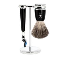 Mühle Zestaw do golenia S81M226F Rytmo FUSION,  Pędzel do golenia Pure Badger, Maszynka Fusion i stojak