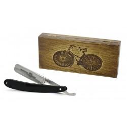 Robert Klaas, brzytwa 5/8, drewniane pudełko RETRO ROWER
