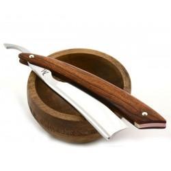 Elegancka brzytwa Koraat-Knives 7/8 pustynne drewno żelazne, wklęsłość near wedge