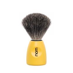 Pędzel do golenia NOM LASSE81LE, 100% borsuk, żółta rączka