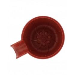 Pereira Shavery - nietłukąca miseczka do golenia wykonana ze specjalnej mieszanki plastiku i minerałów, czerwona