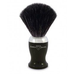Pędzel do golenia, włosie syntetyczne czarne, kolor czarny, chromowany