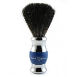 Pędzel do golenia, włosie syntetyczne czarne, niebieski, chromowany