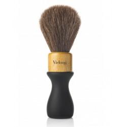 Vie-Long B0380924 American Style pędzel do golenia, brązowe końskie włosie