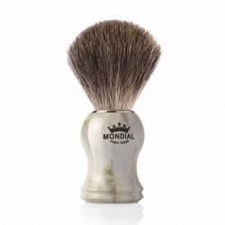 Mondial GORDON, pędzel do golenia, marmurowa rączka, 100% Grey Badger
