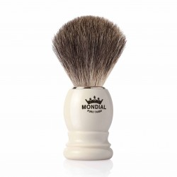 Mondial GORDON, pędzel do golenia, kość słoniowa, 100% Grey Badger