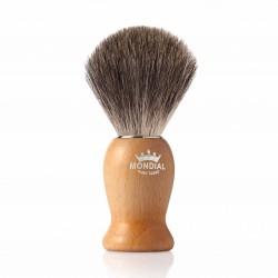 Mondial NELSON, pędzel do golenia, drewno klonowe, 100% Grey Badger