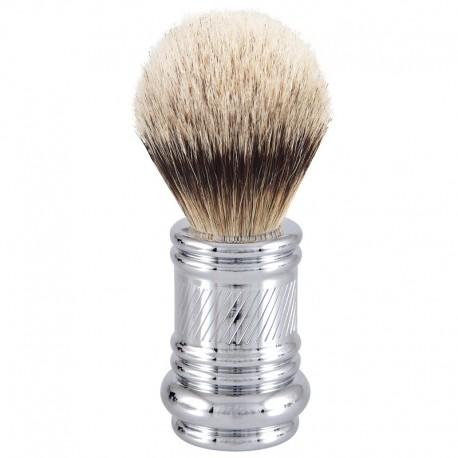 Merkur Silvertip, pędzel do golenia z chromowaną rączką