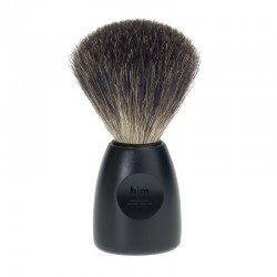 Pędzel do golenia, 81 P 12 S, HJM, 100% borsuk, czarny