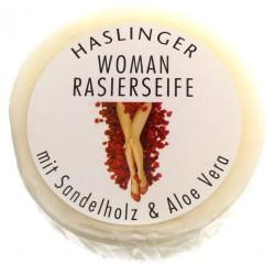 Haslinger, Nawilżające mydło do golenia dla kobiet 60g z drzewa sandałowego
