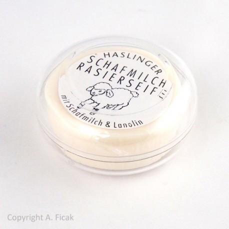 Haslinger, Mydło do golenia 60g w tygielku, lanolina